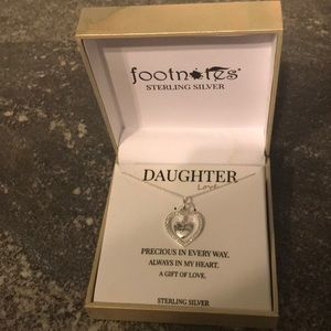 "Brand new sterling silver  ""Daughter"" necklace"